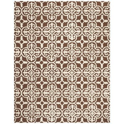 Marlen Dark Brown Area Rug Rug Size: Rectangle 6 x 9