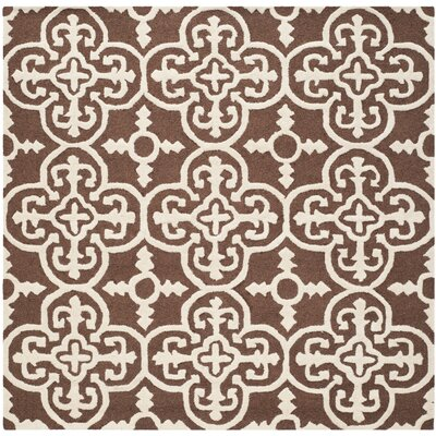 Martins Dark Brown Area Rug Rug Size: Square 6