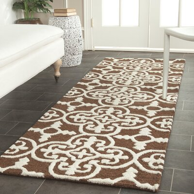 Martins Dark Brown Area Rug Rug Size: Runner 26 x 6