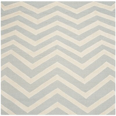 Charlenne Gray/Ivory Area Rug Rug Size: Square 6
