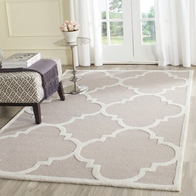 Charlenne Beige/Ivory Area Rug Rug Size: Rectangle 5 x 8