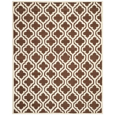 Martins Dark Brown/Ivory Area Rug Rug Size: Rectangle 9 x 12