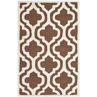Martins Dark Brown/Ivory Area Rug Rug Size: Rectangle 8 x 10