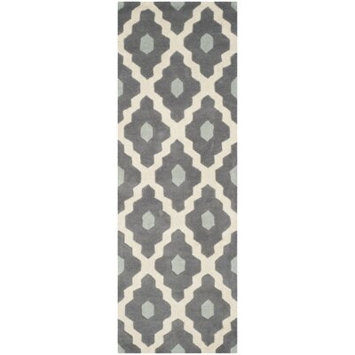 Wilkin Dark Gray/Ivory Moroccan Area Rug Rug Size: Runner 23 x 9