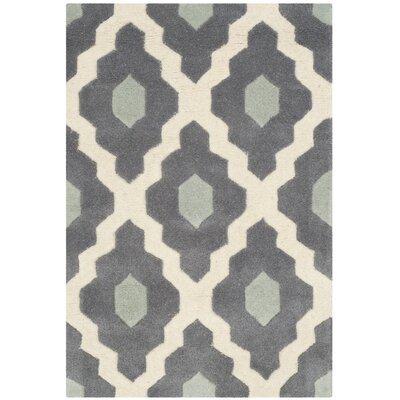 Wilkin Dark Gray/Ivory Moroccan Area Rug Rug Size: 3 x 5