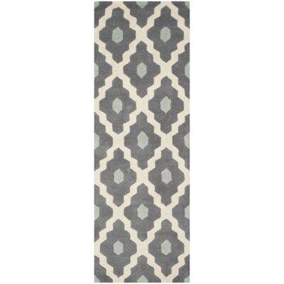 Wilkin Dark Gray/Ivory Moroccan Area Rug Rug Size: Runner 23 x 7