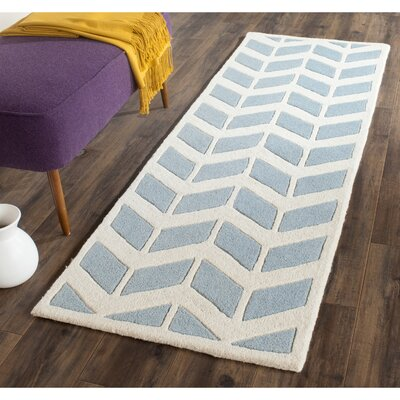 Wilkin Blue / Ivory Moroccan Area Rug Rug Size: Runner 23 x 7