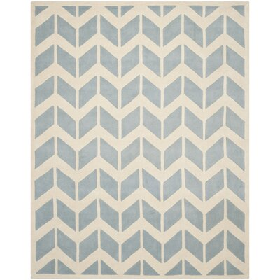 Wilkin Blue / Ivory Moroccan Area Rug Rug Size: Rectangle 6 x 9