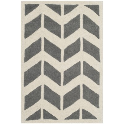 Wilkin Dark Grey / Ivory Moroccan Area Rug Rug Size: 2 x 3