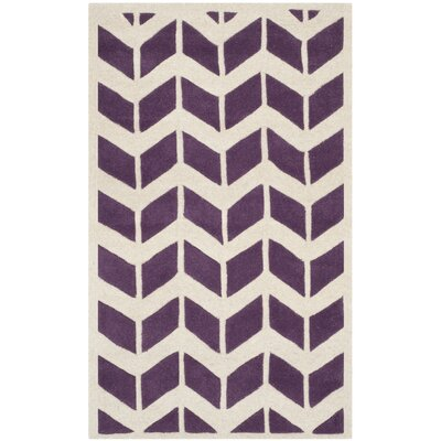 Wilkin Purple / Ivory Moroccan Area Rug Rug Size: 3 x 5
