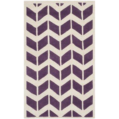 Wilkin Purple / Ivory Moroccan Area Rug Rug Size: 3' x 5'