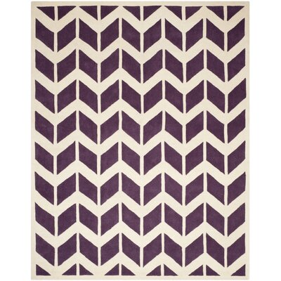 Wilkin Purple / Ivory Moroccan Area Rug Rug Size: 8 x 10