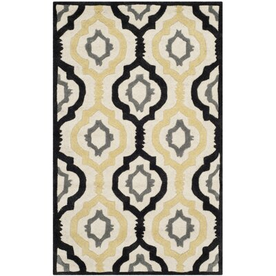 Wilkin Ivory / Multi Moroccan Rug Rug Size: Rectangle 3 x 5