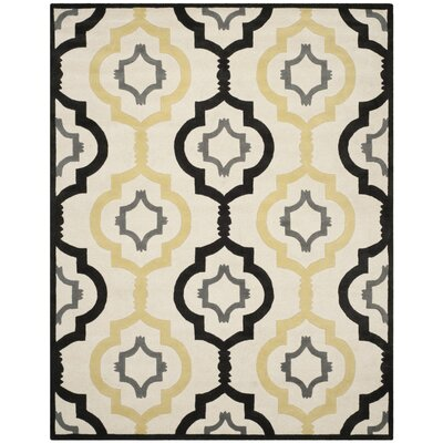 Wilkin Ivory / Multi Moroccan Rug Rug Size: Rectangle 89 x 12