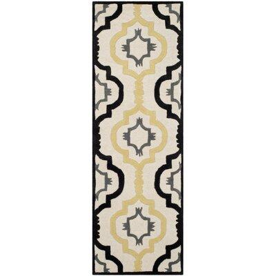 Wilkin Ivory / Multi Moroccan Rug Rug Size: Runner 23 x 7