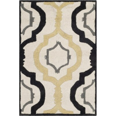 Wilkin Ivory / Multi Moroccan Rug Rug Size: Rectangle 5 x 8
