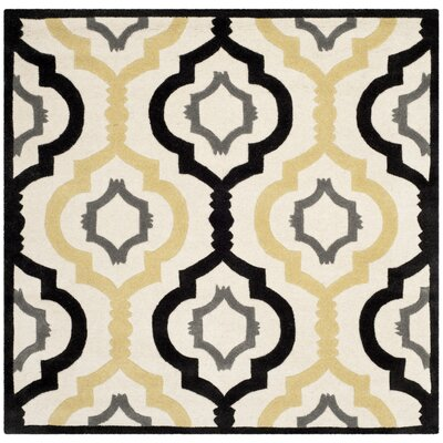 Wilkin Ivory / Multi Moroccan Rug Rug Size: Square 5