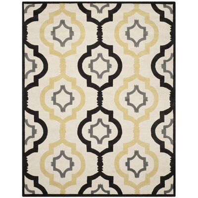 Wilkin Ivory / Multi Moroccan Rug Rug Size: Rectangle 8 x 10