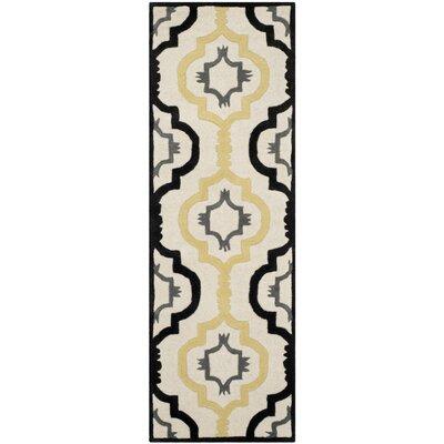 Wilkin Ivory / Multi Moroccan Rug Rug Size: Runner 23 x 9