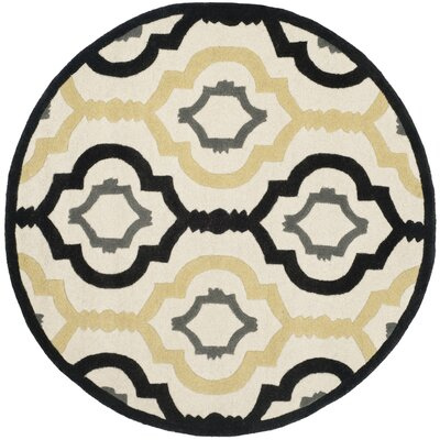 Wilkin Ivory / Multi Moroccan Rug Rug Size: Round 7