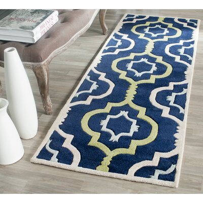 Wilkin Hand-Tufted Wool Area Rug Rug Size: Runner 23 x 9