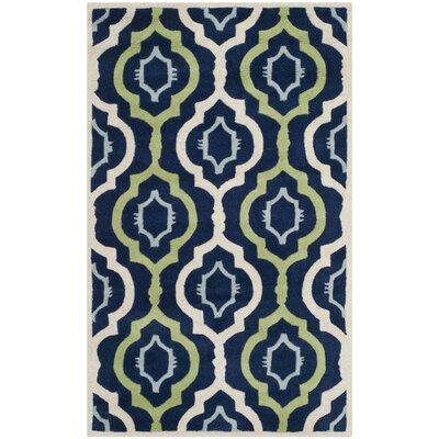 Wilkin Dark Blue / Multi Moroccan Rug Rug Size: 3' x 5'