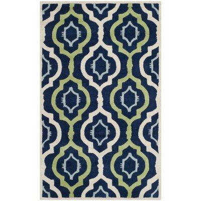 Wilkin Dark Blue / Multi Moroccan Rug Rug Size: 4' x 6'