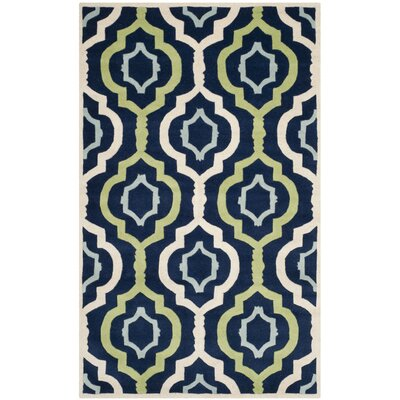 Wilkin Dark Blue / Multi Moroccan Rug Rug Size: 5' x 8'