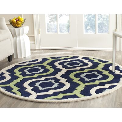 Wilkin Hand-Tufted Wool Area Rug Rug Size: Round 7