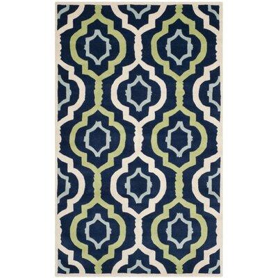 Wilkin Dark Blue / Multi Moroccan Rug Rug Size: 6' x 9'