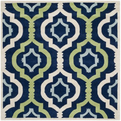 Wilkin Dark Blue / Multi Moroccan Rug Rug Size: Square 3'