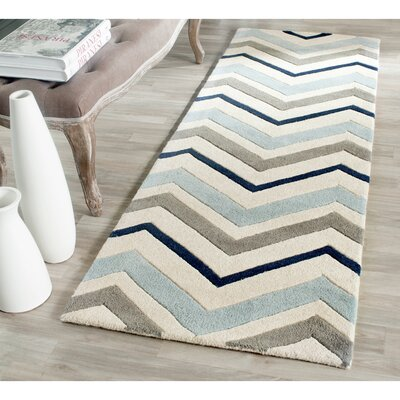 Wilkin Hand-Tufted Wool Area Rug Rug Size: Runner 23 x 11