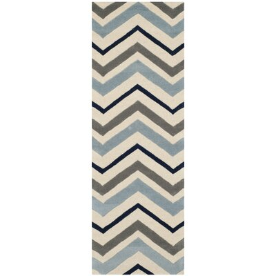 Wilkin Hand-Tufted Wool Area Rug Rug Size: Runner 23 x 5