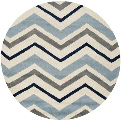 Wilkin Hand-Tufted Wool Area Rug Rug Size: Round 3