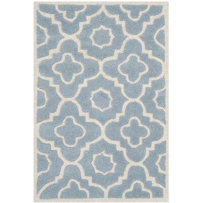 Wilkin Blue / Ivory Moroccan Rug Rug Size: 2 x 3