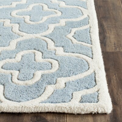 Wilkin Blue / Ivory Moroccan Rug Rug Size: Square 5