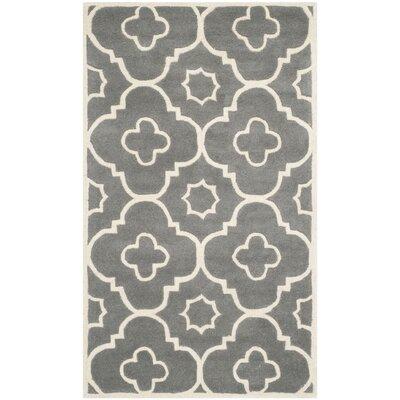 Wilkin Dark Grey / Ivory Moroccan Rug Rug Size: 3 x 5