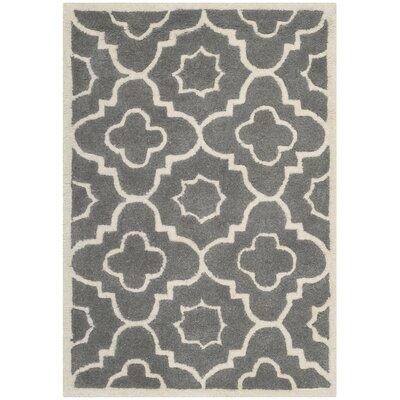 Wilkin Dark Grey / Ivory Moroccan Rug Rug Size: 4 x 6