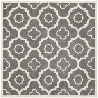 Wilkin Dark Grey / Ivory Moroccan Rug Rug Size: Square 7