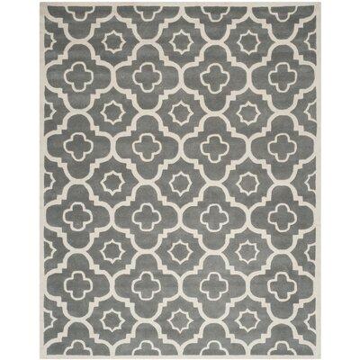 Wilkin Dark Grey / Ivory Moroccan Rug Rug Size: 89 x 12