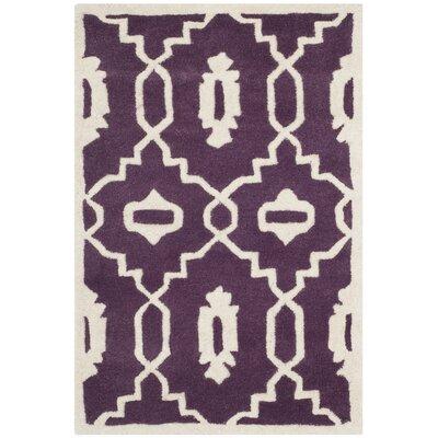 Wilkin Purple / Ivory Moroccan Rug Rug Size: 2 x 3