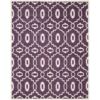 Wilkin Purple / Ivory Moroccan Rug Rug Size: 6' x 9'