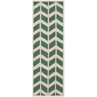Wilkin Teal / Ivory Moroccan Area Rug Rug Size: Runner 23 x 7