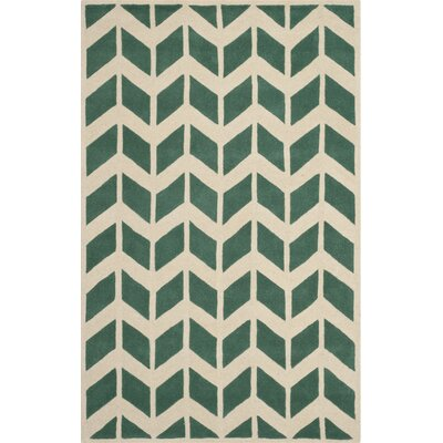 Wilkin Teal / Ivory Moroccan Area Rug Rug Size: 6 x 9