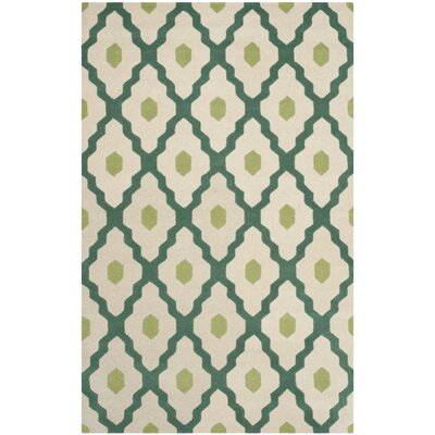Wilkin Ivory / Teal Moroccan Rug Rug Size: Rectangle 6 x 9