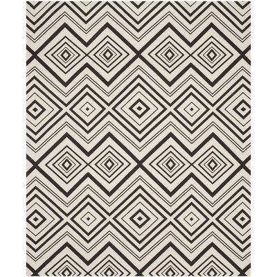 Sonny Hand-Woven Cotton Ivory/Brown Area Rug Rug Size: Rectangle 73 x 93