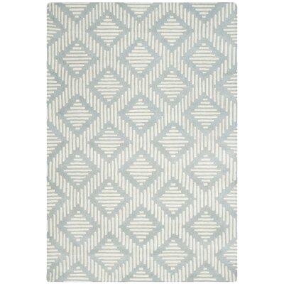 Wilkin Grey & Ivory Moroccan Rug Rug Size: 6 x 9