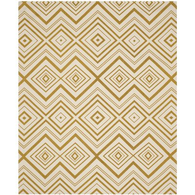 Sonny Ivory & Citron Area Rug Rug Size: 73 x 93