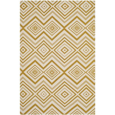 Sonny Ivory & Citron Area Rug Rug Size: 4 x 6