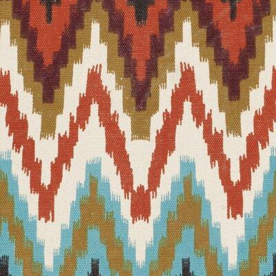 Sonny Teal / Red Area Rug Rug Size: Round 5